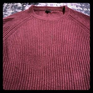 JCREW RED Thermal Sweater sz Small